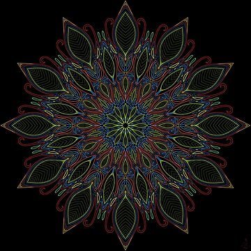 Mandala - Natural Peace - Dancing Tree by D-GraphicDesign