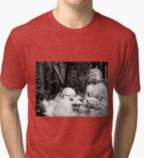 Meditation pose Buddha Tri-blend T-Shirt