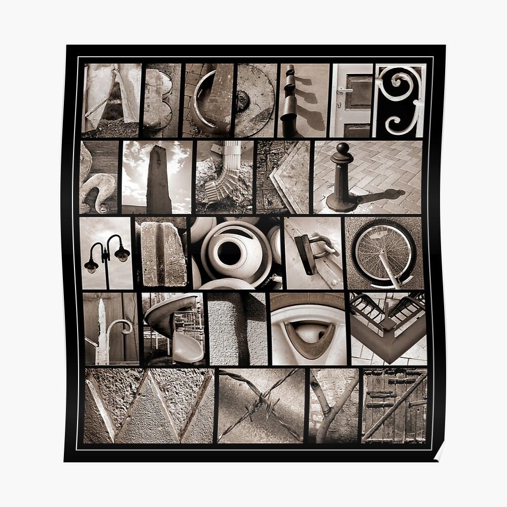 Alphabet Monochrome Print Poster