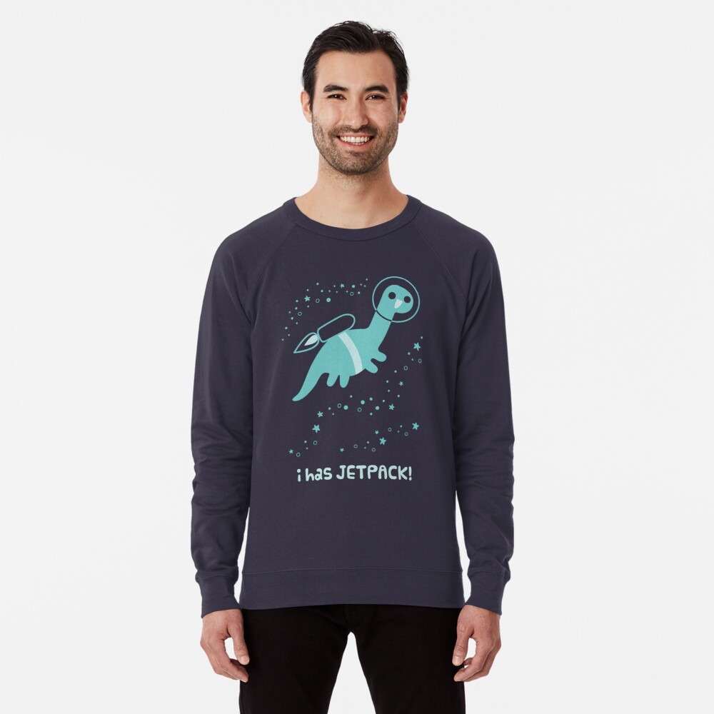 I Has Jetpack! Lightweight Sweatshirt