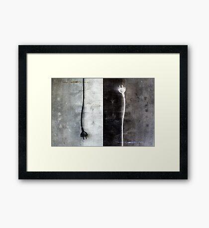 +/- Framed Print