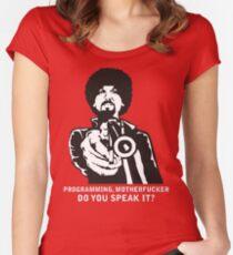 Programming, Motherfucker Women's Fitted Scoop T-Shirt