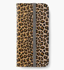 Leopardenprint iPhone Flip-Case/Hülle/Klebefolie