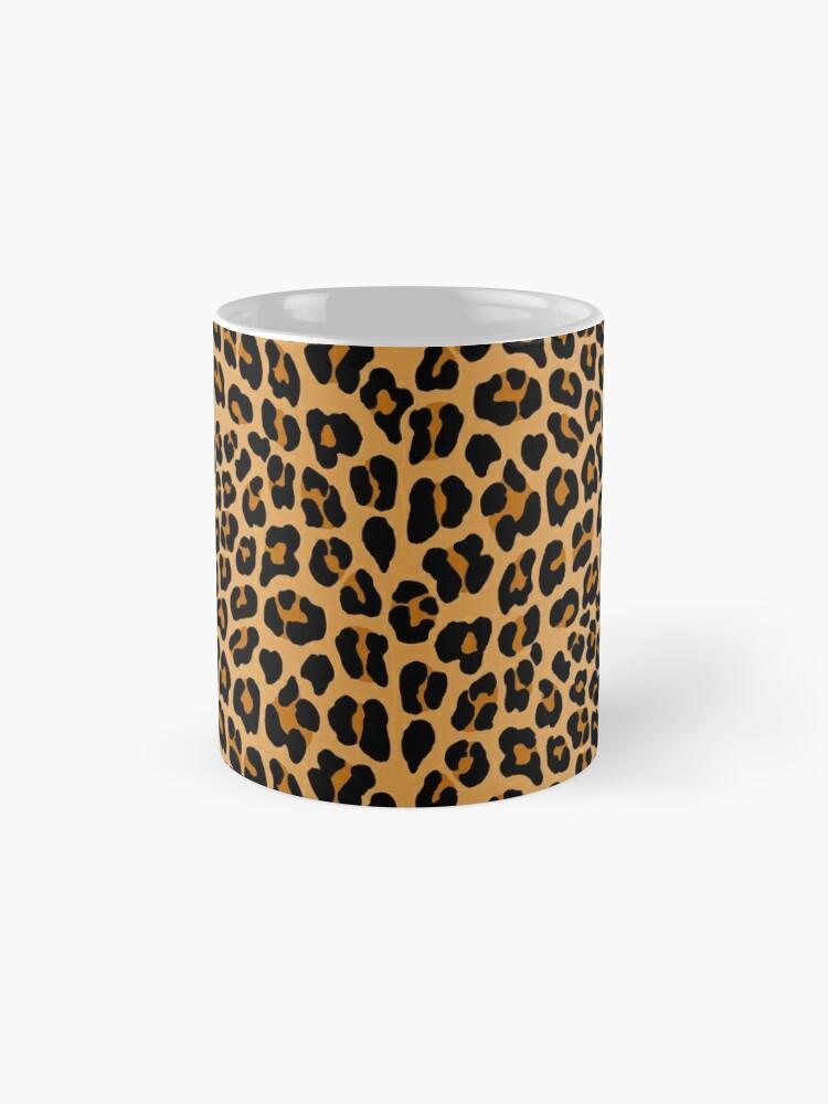 Vista alternativa de Taza Estampado de leopardo