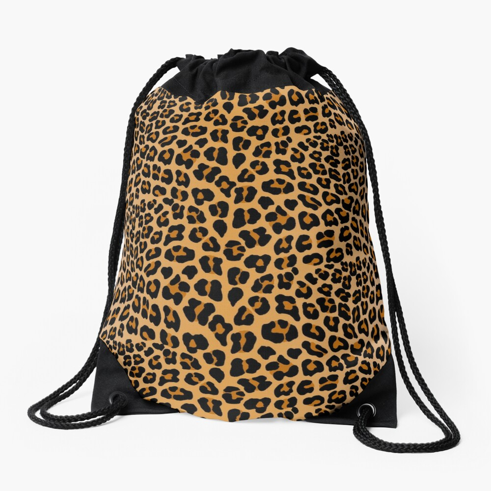 Leopard print Drawstring Bag