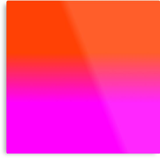 Neon Orange And Hot Pink Ombre Shade Color Fade By Podartist