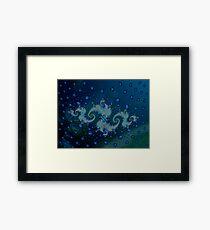 seahorse colony Framed Print