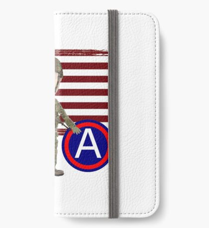 Proud Veteran 3rd Army iPhone Wallet