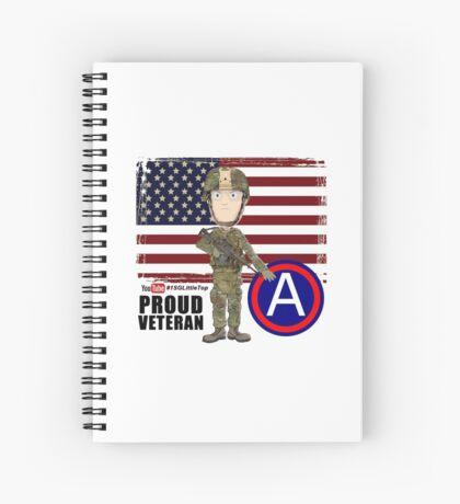 Proud Veteran 3rd Army Spiral Notebook