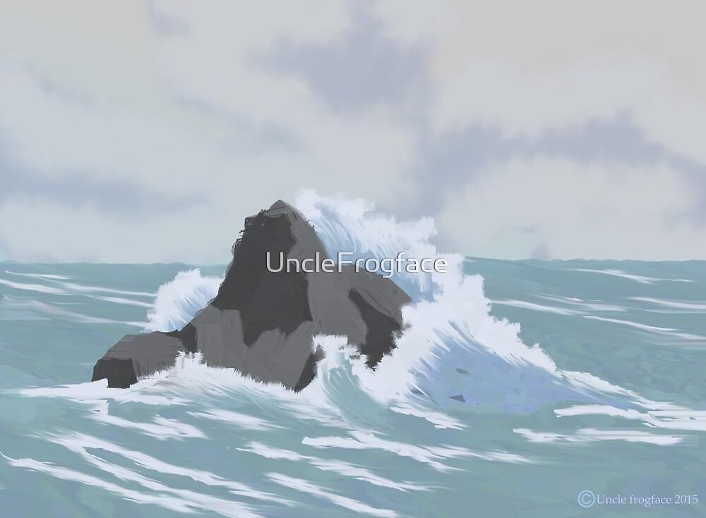 Crashing wave by UncleFrogface