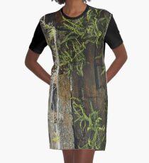 Spleenwort Maidenhair fern on wall at Cashelnagor Graphic T-Shirt Dress