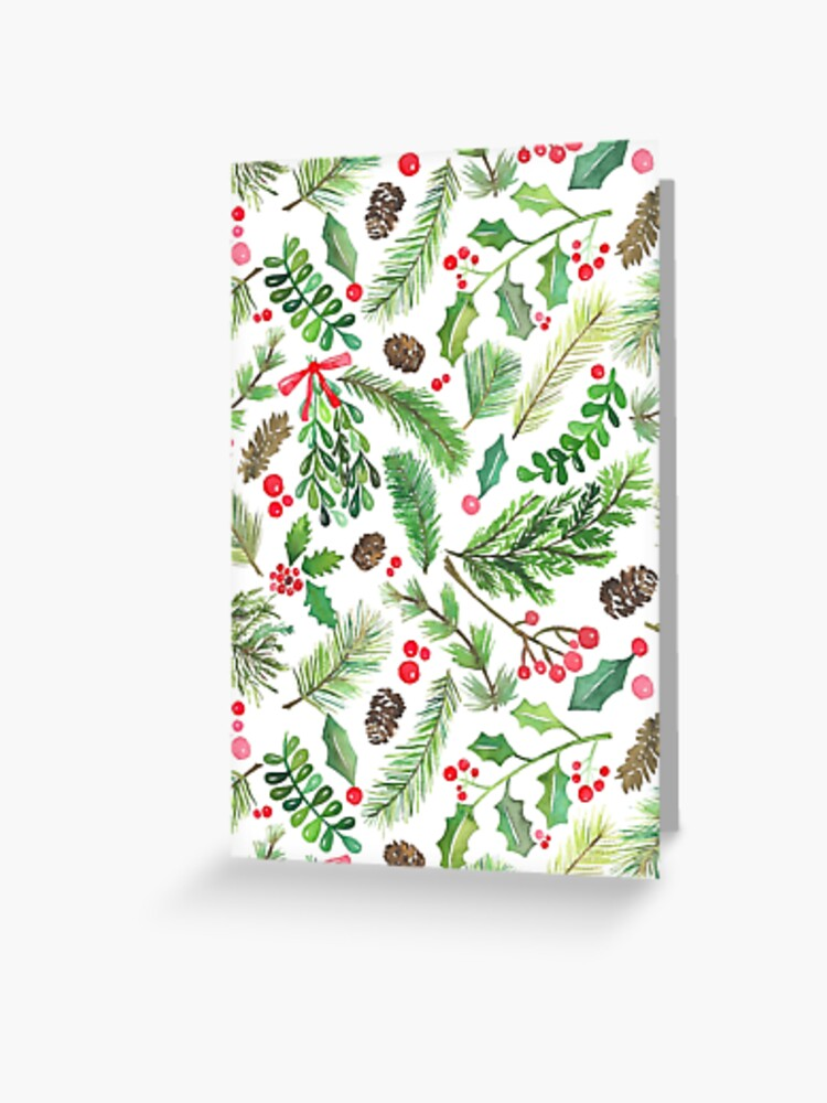 Christmas Greenery Images.Lovely Christmas Greenery Greeting Card