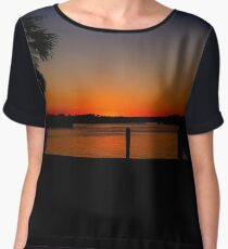 HALLOWEEN SUNSET Women's Chiffon Top