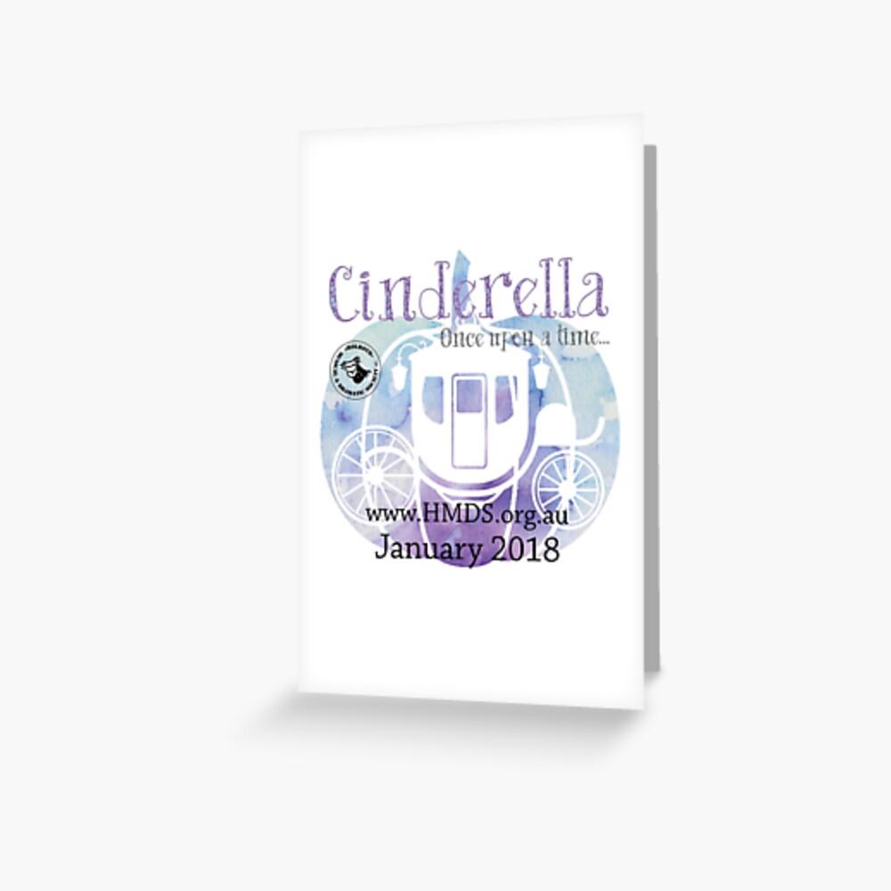 Cinderella - Holroyd Musical & Dramatische Gesellschaft Grußkarte