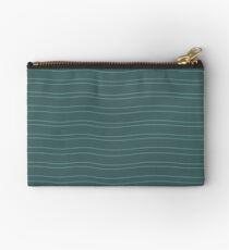 Green Water Stripe Studio Pouch