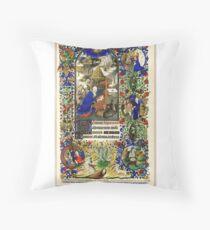 Illuminated New Testaments Nativity Scene Throw Pillow