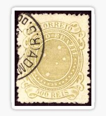 500 Reis Brazil issue 1890 Stamp Sticker