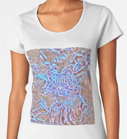 Ghost Cat Premium Scoop T-Shirt