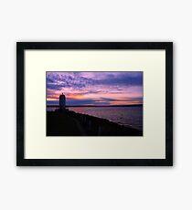 Browns Point Light House Framed Print