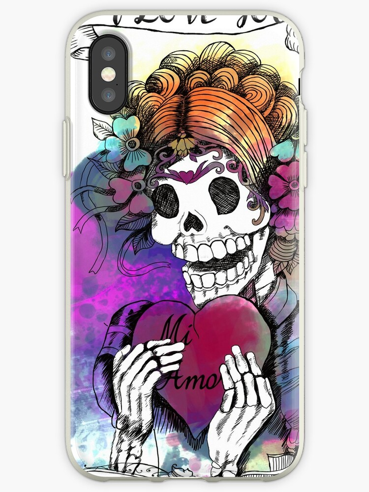Day of the Dead Sugar Skull Love by cynthia cabello
