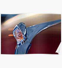 1950 D Custom Sedan Hood Ornament -1356c Poster