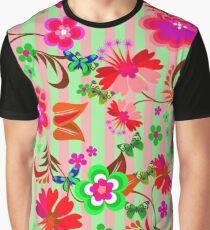 Vector Floral Graphic T-Shirt