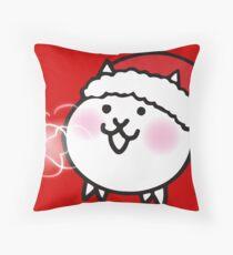 Battle cats - Cat (Cat unit) Winter, Christmas ver. Throw Pillow