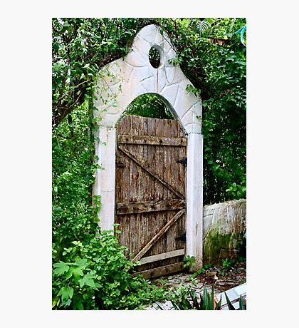 Old Garden Gate Photographic Print
