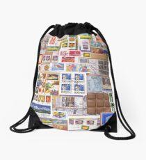 D1G1TAL-M00DZ ~ GALLIMAUFRY ~ Snail Mail Elegance by tasmanianartist Drawstring Bag