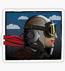 Woman Pilot Sticker