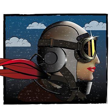 Woman Pilot by colourfix