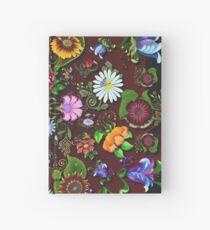 D1G1TAL-M00DZ ~ FOLKART ~ FLORAL ~ Kunterbunt Floral Medley by tasmanianartist Notizbuch