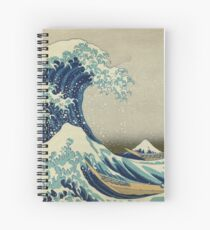 The Great Wave off Kanagawa Spiral Notebook