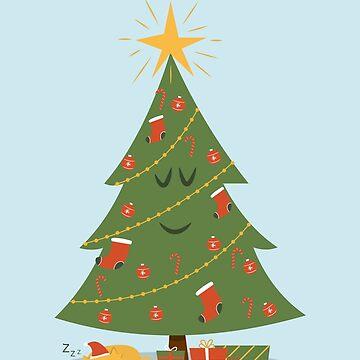 El arbol de navidad y el gato de cartoonbeing