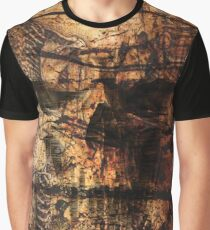 Skull Skeletons and Words Rustic Grunge Graphic T-Shirt