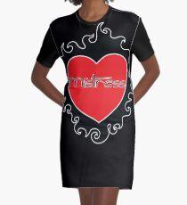 Mistress BDSM Burning Heart Design by Dirk Hooper Graphic T-Shirt Dress