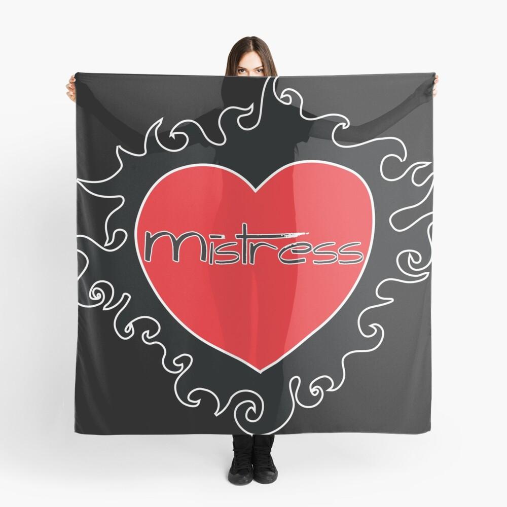 Mistress BDSM Burning Heart Design by Dirk Hooper Scarf