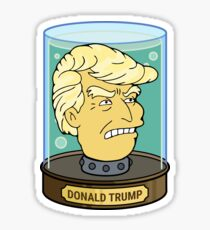 Trump in a jar sticker Sticker