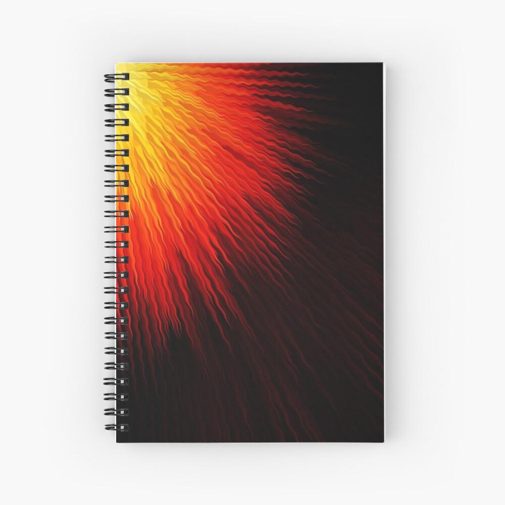 Fiery sun Spiral Notebook