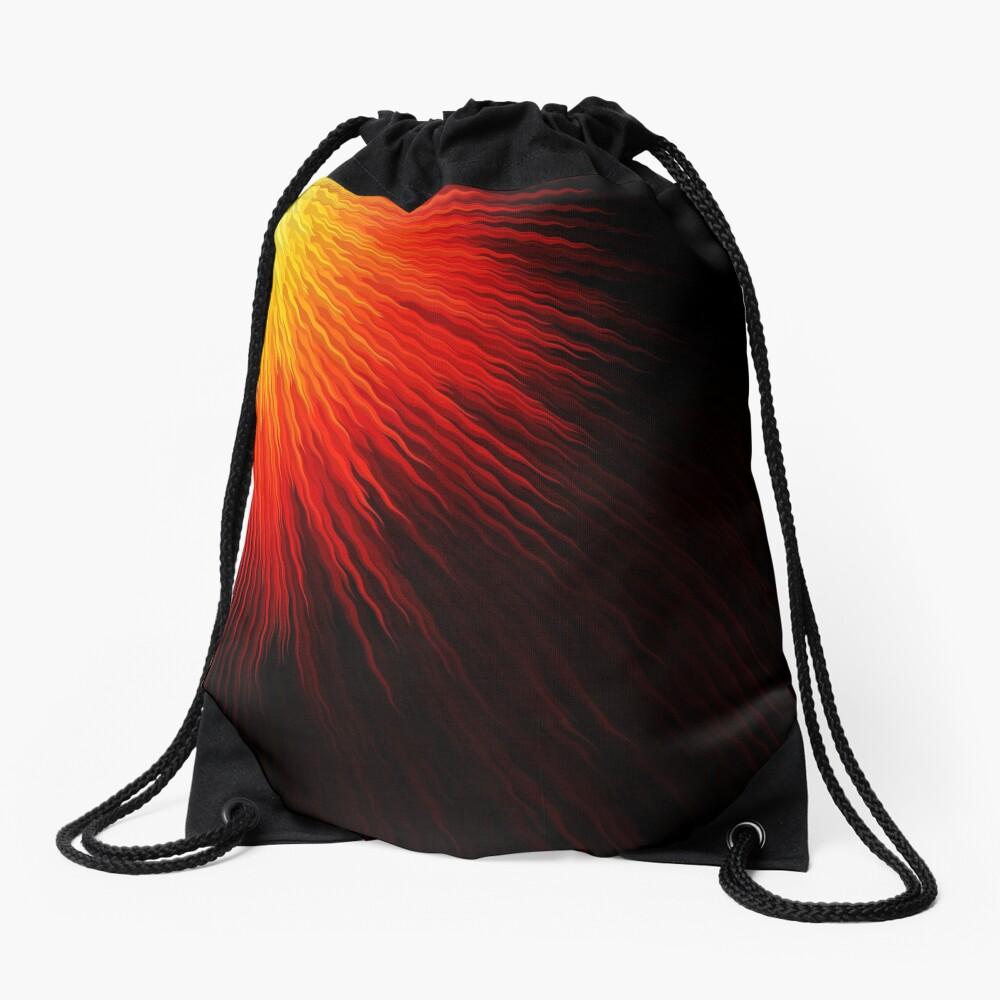 Fiery sun Drawstring Bag