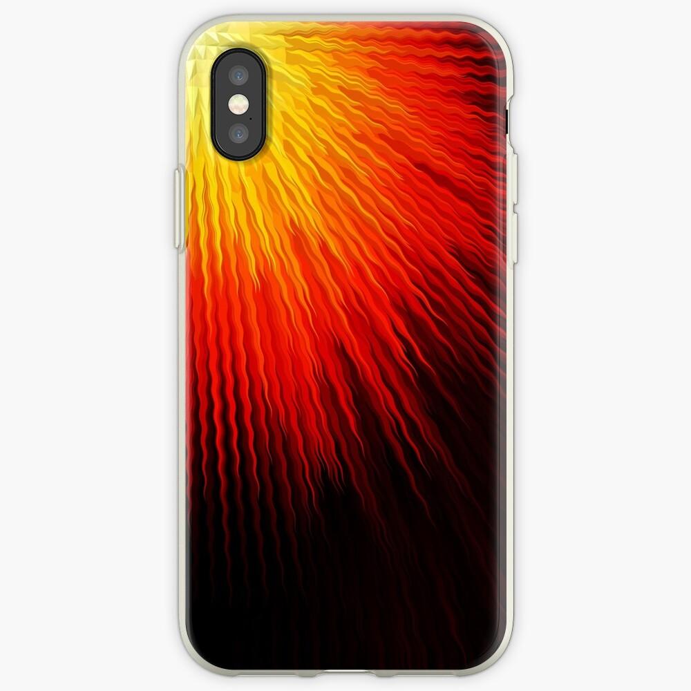 Fiery sun iPhone Case & Cover