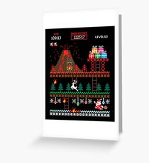 Santa vs Krampus: Merry 8-bit Christmas Greeting Card