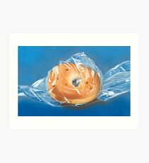 bagged bagel Art Print