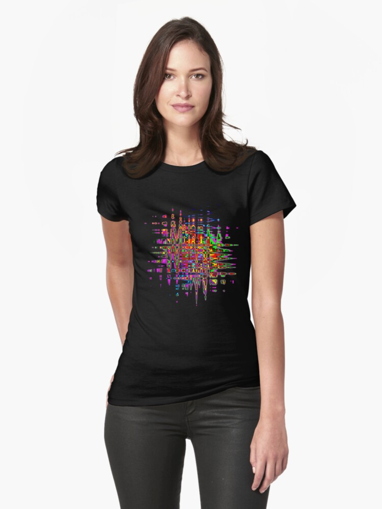 Abstract colorful tee by Gili Orr