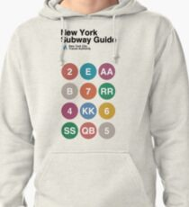 New York Subway Guide // White Pullover Hoodie