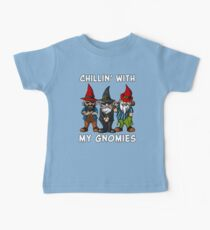 Chillin' With My Gnomies Funny Fairy Garden Gnomes Kids Clothes