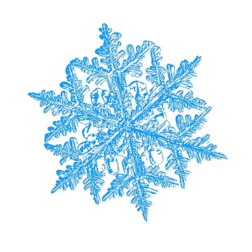 Snowflake vector - 2017-02-13_3 white by chaoticmind75