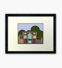 Log home Framed Print