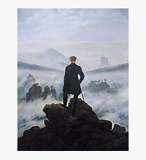 Wanderer above the sea of fog  Photographic Print