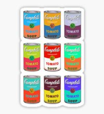 Andy Warhol Campbell's soup cans Sticker